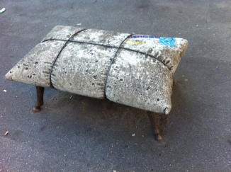 A physical oxymoron, the soft concrete cushion
