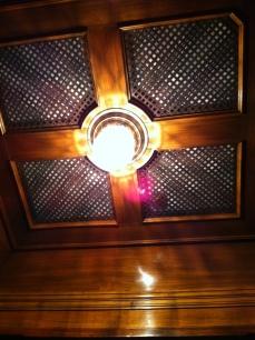 Art deco ceiling in Italian lift