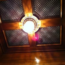Art deco ceiling in Italian lift