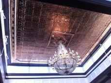 Stunning copper ceiling