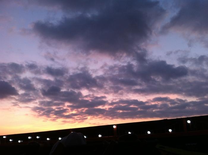 Sunset above cinema screen #BAROOFTOP