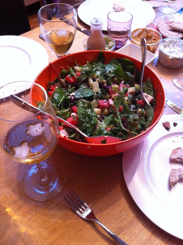 Summer feta and watermelon salad