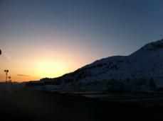 Sunset in Paso Tonale