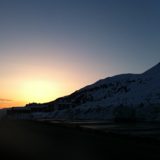 Sunset in Paso Tonale