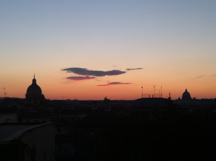 Last 2014 Sunset In Rome